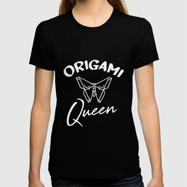 Origami Queen Motive for a Hobbyists T-shirt