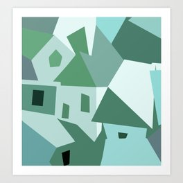 A Small Town 02 Art Print