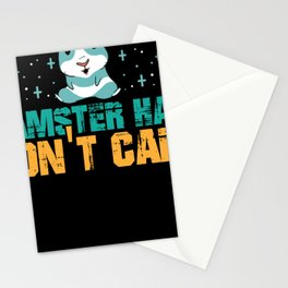 hamster Hair dont care  cute animal design Stationery Cards