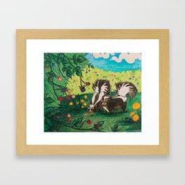 Skunk Picnic Framed Art Print