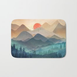 Wilderness Becomes Alive at Night Bath Mat