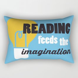 Imagination - Just Read Rectangular Pillow
