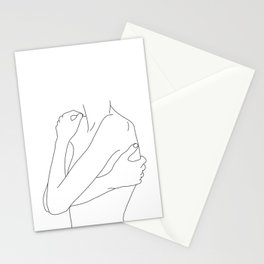 Woman's body line drawing illustration - Dahl Stationery Cards