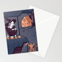 Funny witch Stationery Cards