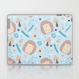 Cute hedgehogs pattern Laptop & iPad Skin
