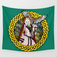 goddess Wall Tapestries featuring Goddess by Astrablink7