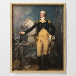 General George Washington at Trenton by John Trumbull (1792) Serving Tray