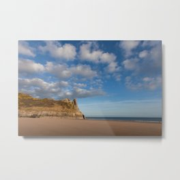 The Great Tor on the Gower peninsular Metal Print