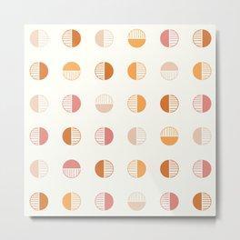 Sunny Retro Boho Geometric - Light Metal Print