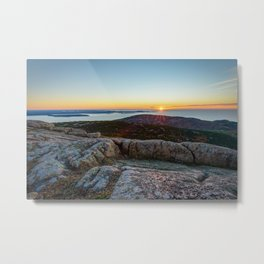 CADILLAC MOUNTAIN SUNRISE - ACADIA NATIONAL PARK MAINE - LANDSCAPE PHOTOGRAPHY PRINT Metal Print
