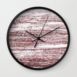 Brown marble watercolor design Wall Clock