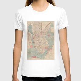 Vintage Map of Boston MA (1882) T-shirt