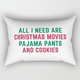 Christmas Movies Funny Xmas Quote Rectangular Pillow