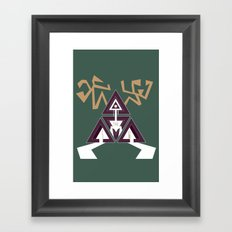 Shelter The Weak Triangles Framed Art Print