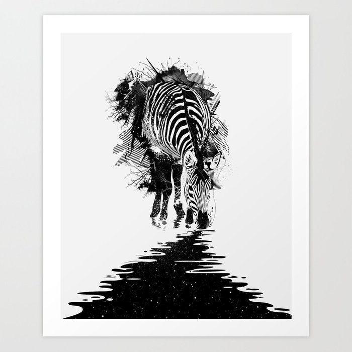 Stripe Charging Art Print