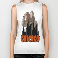 sports Biker Tanks featuring CHICAGO SPORTS  by Robleedesigns