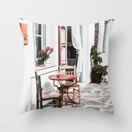 Amorgos Greece Throw Pillow