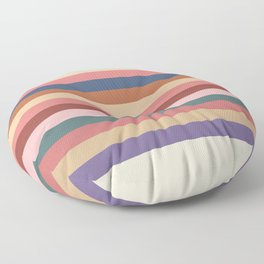 Multicolor Stripes III Floor Pillow