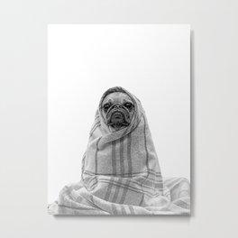 forever mood III - pug in a blanket Metal Print