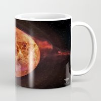 springsteen Mugs featuring Gravity Levels: Red Planet by Sitchko Igor