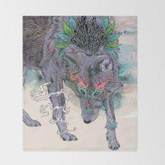 Journeying Spirit (wolf) Throw Blanket