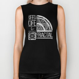 Sacred Geometry-The Seed of life-FRACTAL Biker Tank