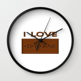 I Love Chocolate Bar Wall Clock