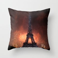 As France Celebrates Their Nation's Birthday Throw Pillow