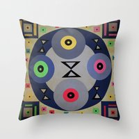 ferris wheel Throw Pillows featuring Ferris wheel by simay