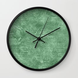 Hemlock Oil Painting Color Accent Wall Clock