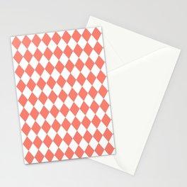 Diamonds (Salmon/White) Stationery Cards