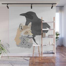 Le corbeau et le renard Wall Mural