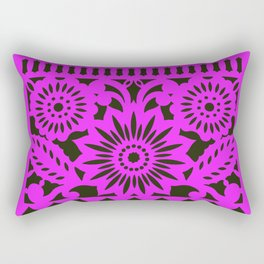 Papel Picdo - Pink + Black Rectangular Pillow