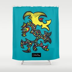 Kissing Dragon Shower Curtain