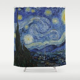 The Starry Night by Vincent van Gogh Shower Curtain