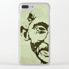 Mahatma Gandhi Jayanti Clear iPhone Case