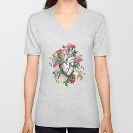 Roses for her Heart Unisex V-Neck