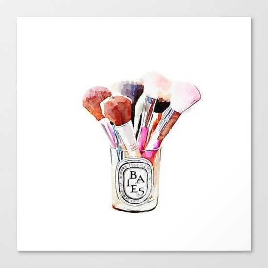 Makeup brush Canvas Print