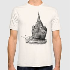 The Snail's Dream LARGE Mens Fitted Tee Natural