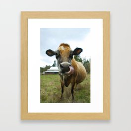 Eat Local Framed Art Print