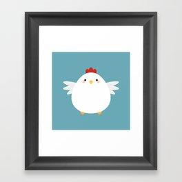 White Chicken Framed Art Print