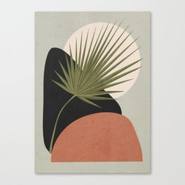Tropical Leaf- Abstract Art 5 Canvas Print