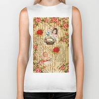 shabby chic Biker Tanks featuring Shabby Chic by Diego Tirigall