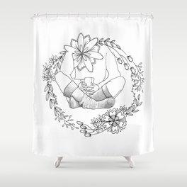 Sock Wreath Series #6 Shower Curtain