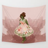 dress Wall Tapestries featuring Summer Dress by Delucienne Maekerr