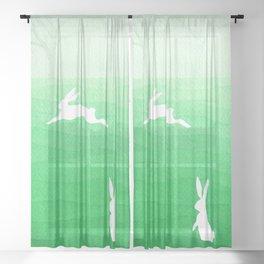 Rabbits meadow Sheer Curtain