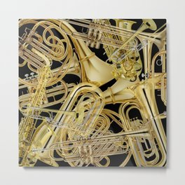 Brass Musical Instruments Metal Print