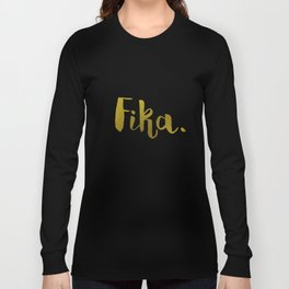 Golden fika Long Sleeve T-shirt