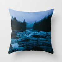 west coast Throw Pillows featuring West Coast by ILIA PHOTO + CINEMA