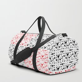 Imperfect Hearts Checkerboard Pattern- Red/Black/WHITE Duffle Bag